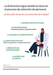 Infografía Consejos para Entrevista de Trabajo